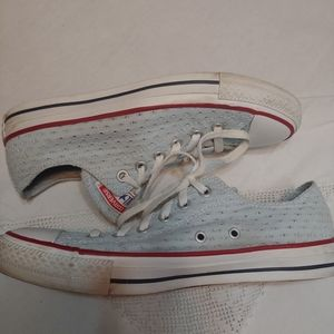 Converse all star light blue sneakers